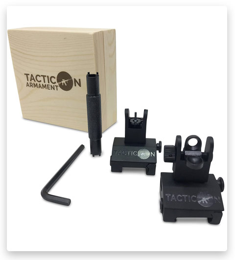 Tacticon Armament Flip Up Iron Sights