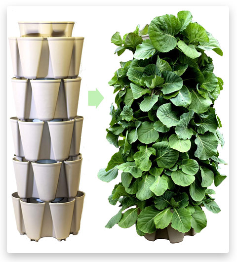 GreenStalk Patented Large 5 Tier Vertical Garden Planter