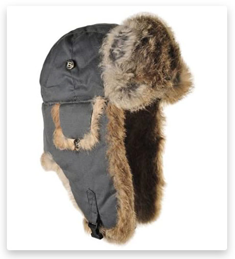 Mad Bomber Aviator Hat with Real Rabbit Fur