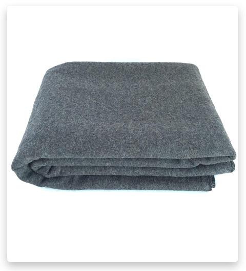EKTOS 90% Wool Blanket, Grey, Warm & Heavy 4.4 lbs