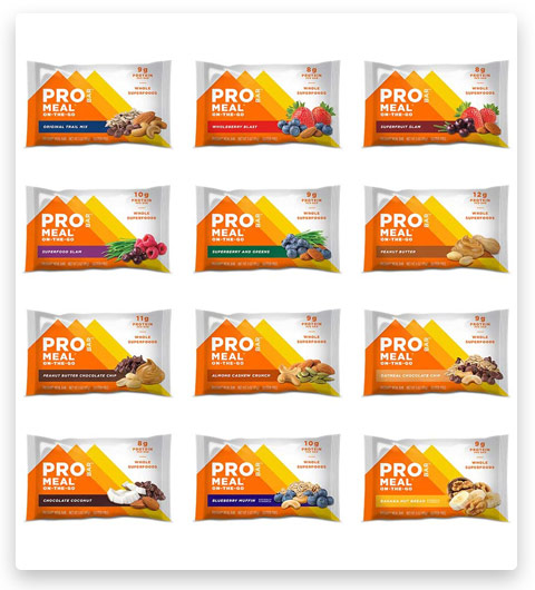 PROBAR - Meal Bar, Variety Pack, Non-GMO, Gluten-Free