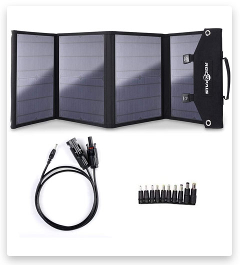 Rockpals 100W Foldable Solar Panel Charger for Suaoki Portable Generator