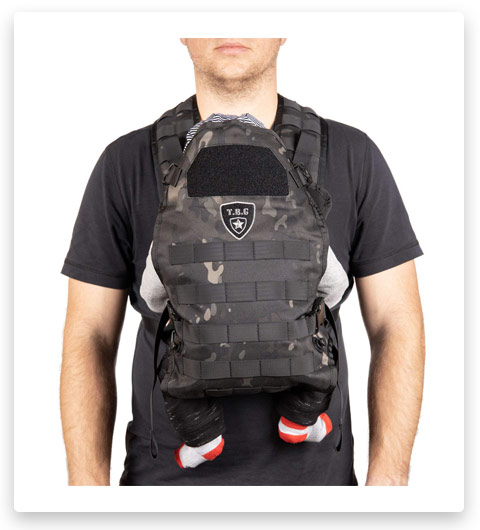 TBG - Mens Tactical Baby Carrier for Infants and Toddlers 8-33 lbs