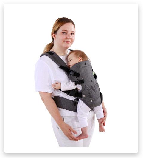 Longdafei Wrap Baby Carrier, Ergonomic Design Infant Sling Convertible