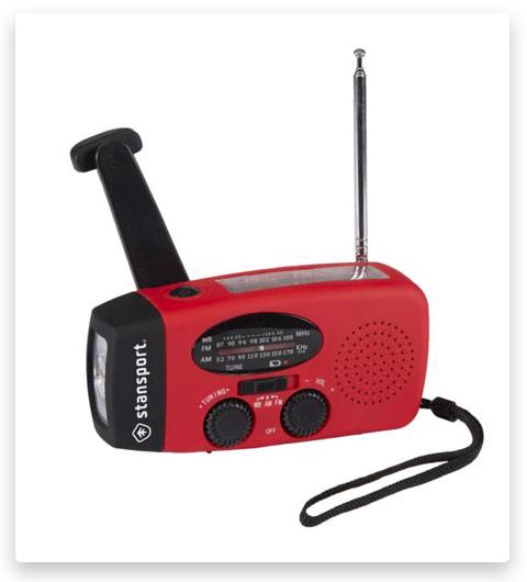 Stansport Solar Dynamo Radio Am-Fm-Wb Crank Radio-Flashlight 01-520