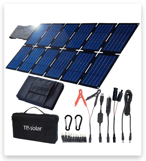 TP-solar 100W Foldable Solar Panel Charger Kit for Portable Generator Power Station