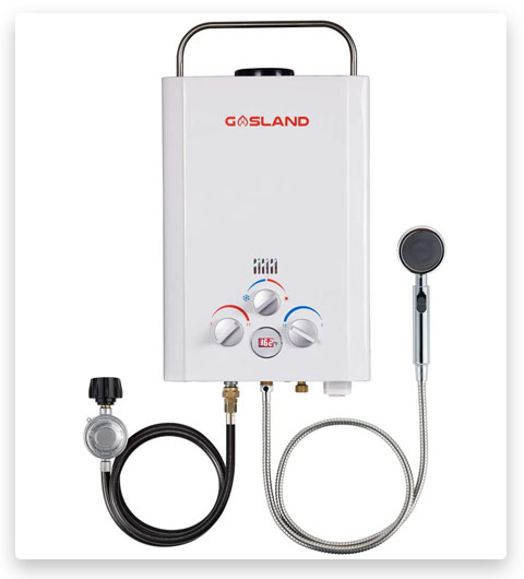 Tankless Water Heater, GASLAND Outdoors BE158 1.58GPM 6L Outdoor Portable Gas Water Heater