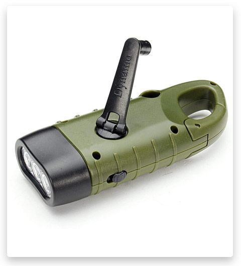 VADIV Hand Crank Flashlight Solar Powered Emergency Torch