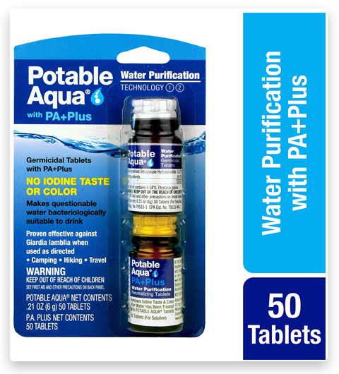 Portable Aqua Water Purification Tablets with PA Plus