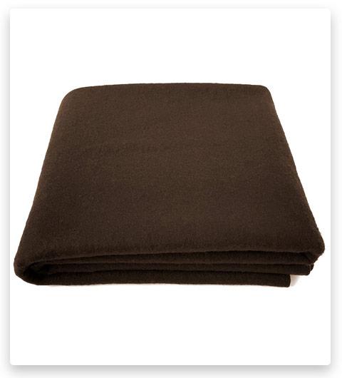 EKTOS 80% Wool Blanket, Light & Warm 3.7 lbs