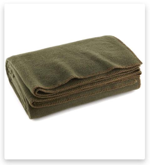 EverOne Olive Drab 80% Wool Fire Retardant Blanket