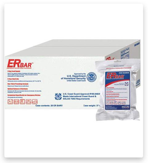 ER Emergency Ration 2400 Calorie Food Bars for Survival Kits