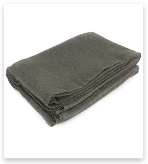 "Everone Wool Fire Retardant Blanket, Grey, 62"" X 80"