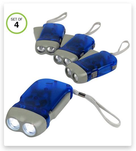 Evelots Hand Crank Flashlight