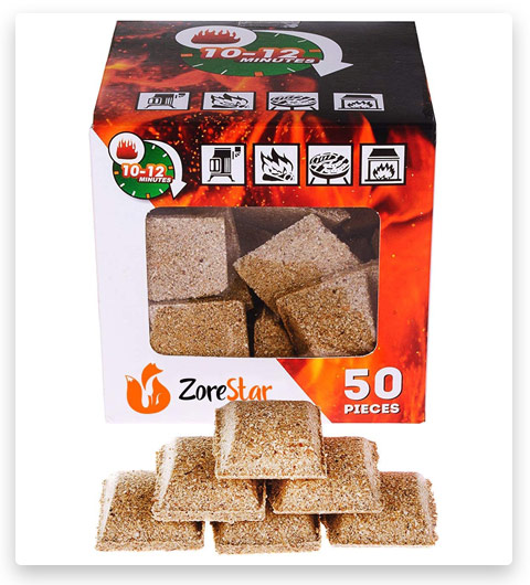 Fireplace starter cubes - Firestarter squares 50pc