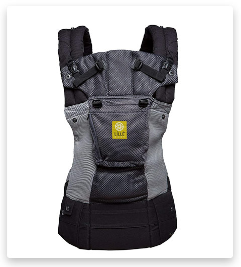 LÍLLÉbaby Complete Airflow Six-Position Baby Carrier, Charcoal/Silver