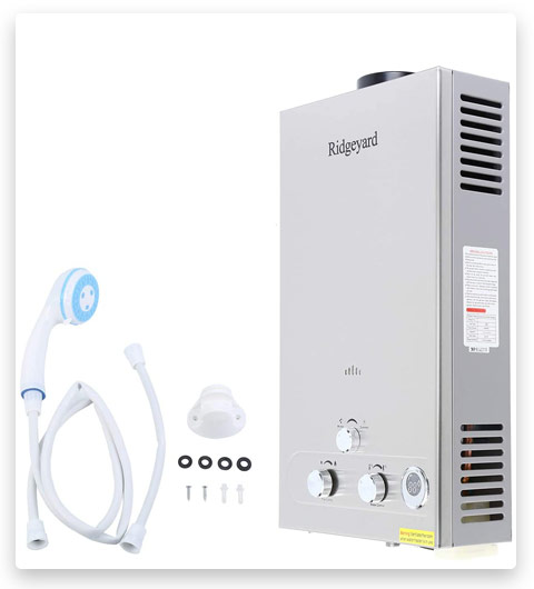 Ridgeyard Digital Display Natural Gas Tankless Instant Hot Water Heater