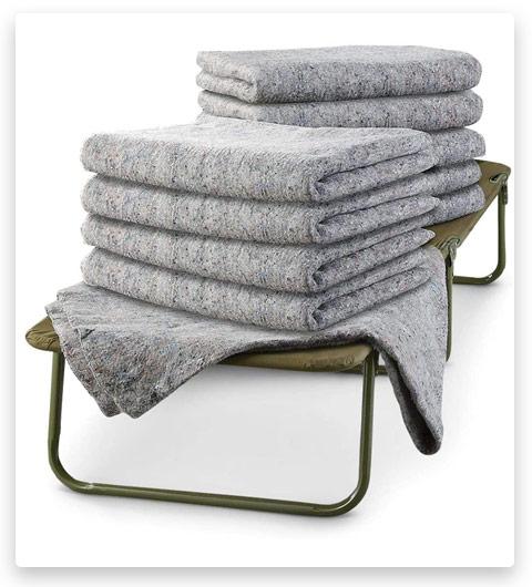 U.S. Military Surplus 10 Pack Wool Blankets