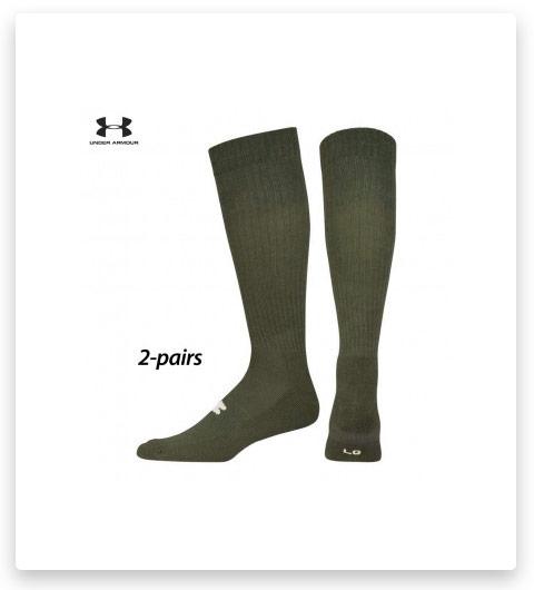 2 Pairs Under Armour HeatGear Tactical Over-The-Calf Socks