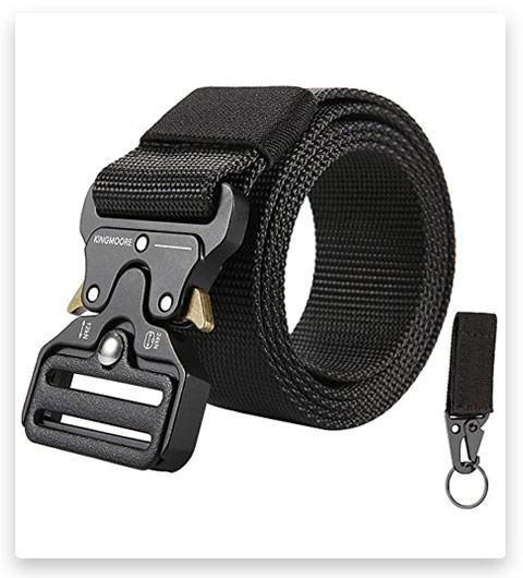 KingMoore Men's Tactical Belt Heavy Duty Webbing Belt