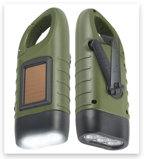 Simpeak Hand Crank Solar Powered Flashlight