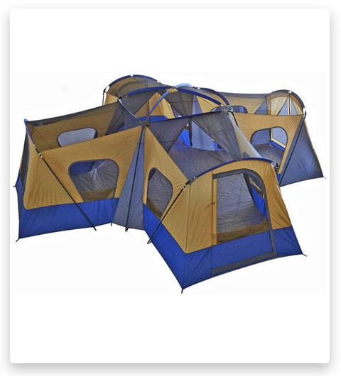 BONUS: Fortune Shop Family Cabin Tent (14 Person Base Camp 4 Rooms)