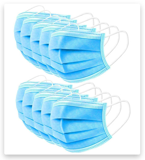WAVE Blue Disposable Face Masks (Indoor/Outdoor)