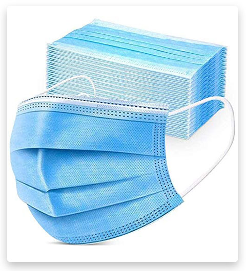 50PCS Disposable Face 3 Layer Anti-Dust Earloops Protective Cover Mask (Blue)