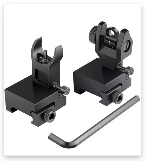 Feyachi Flip-Up Rear Front and Iron Sights