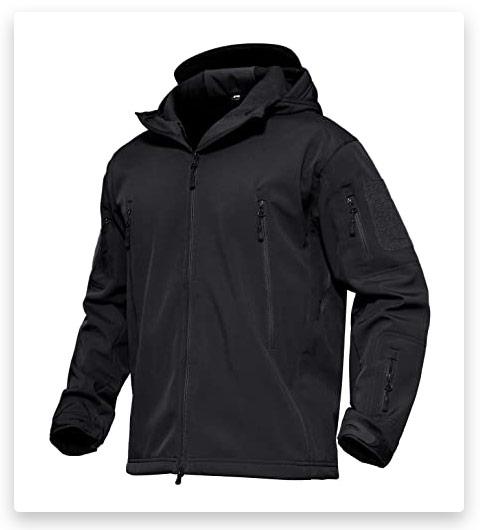 MAGCOMSEN Men's Hooded Tactical Jacket (Water Resistant)