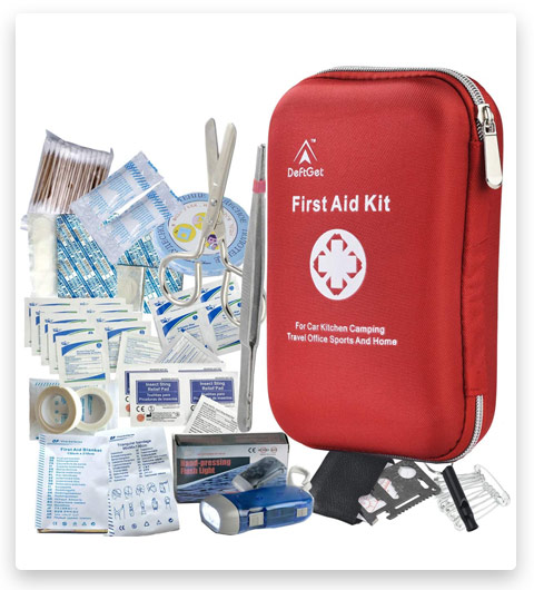 First Aid Kit - 163 Piece Waterproof Portable Essential Injuries