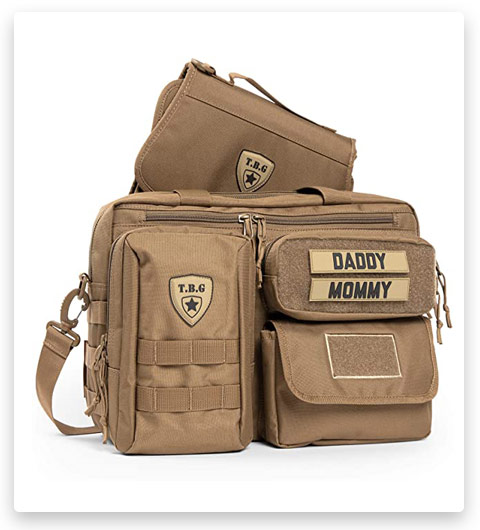 TBG Men's Tactical Diaper Bag for Dads