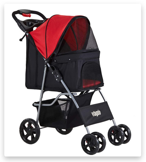 VIAGDO Dog Stroller (Pet Strollers for Small Medium Dogs)