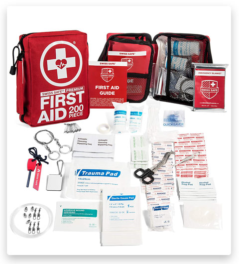 200-Piece Professional First Aid Kit for Home, Car or Work