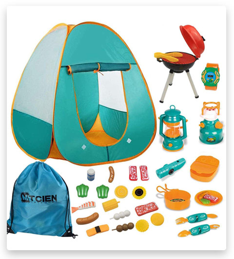 Mitcien Kids Camping Gear Set (with Pop Up Play Tent for Kids)