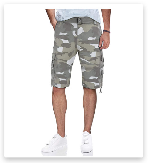 RAW X Men's Belted Cargo Shorts