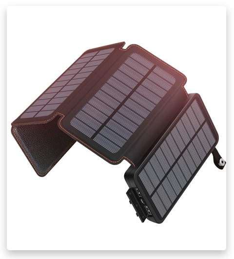 Solar Charger 25000mAh ADDTOP Waterproof Power Bank