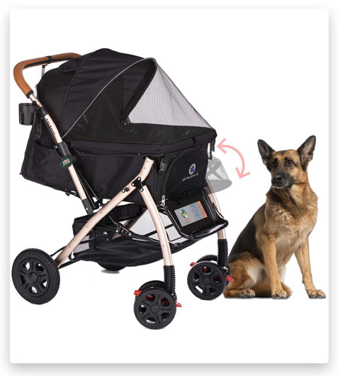 HPZ Pet Rover XL Extra-Long Premium Heavy Duty Dog/Cat/Pet Stroller