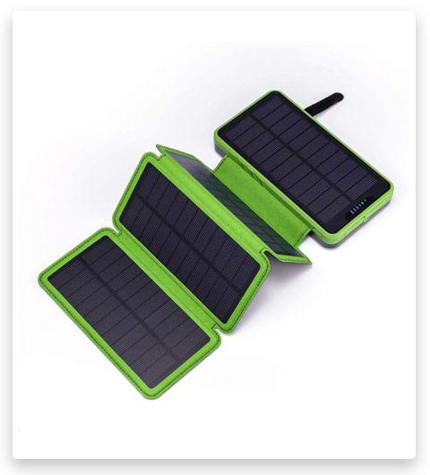 Solar Power Bank, Miady Camping Phone Charger 25000mAh