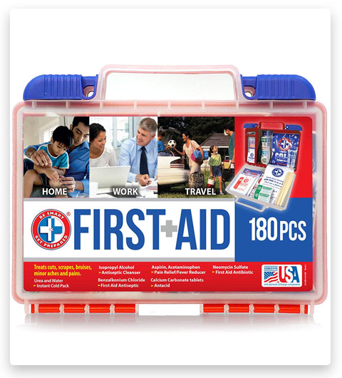Be Smart Get Prepared 180 Piece First Aid Kit