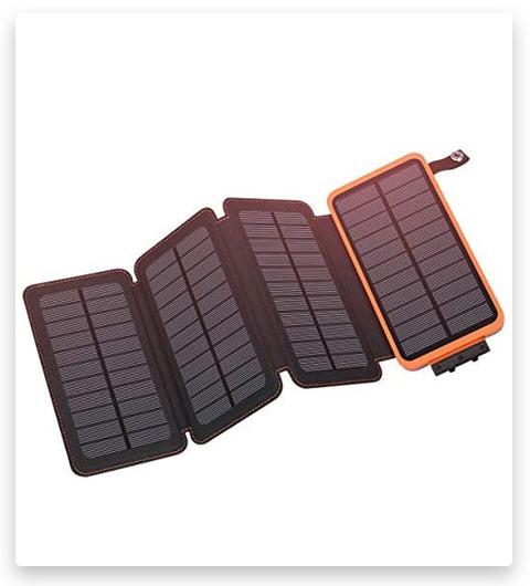 Solar Charger 25000mAh, Hiluckey Outdoor Portable Power Bank