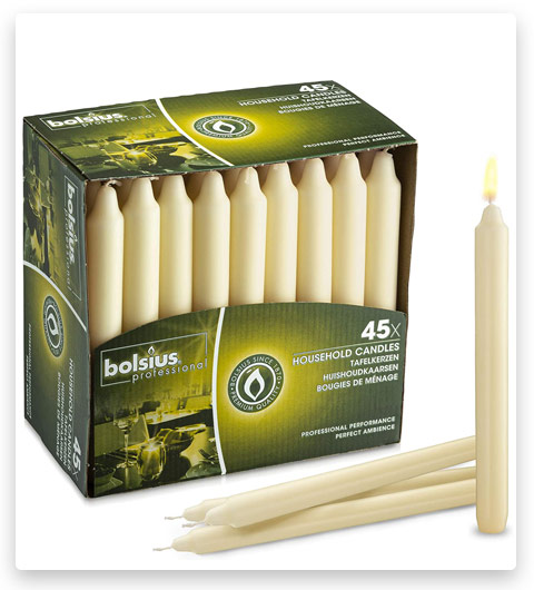 Bolsius Straight Unscented Ivory Candles