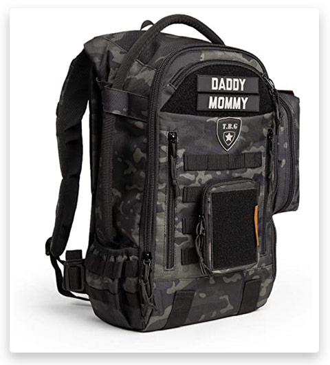 Men's Tactical Diaper Bag Backpack SET