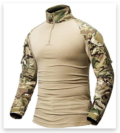 CARWORNIC Men's Tactical Combat Shirt
