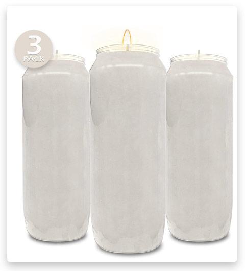 Hyoola 9 Day White Prayer Candles