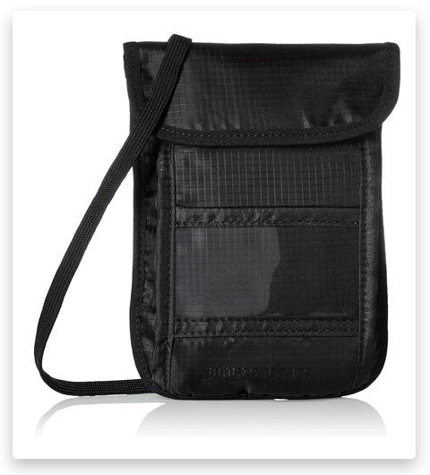 AmazonBasics RFID Travel Neck Passport Holder Wallet
