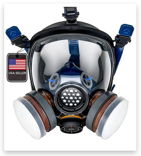 PD-100 Full Face Organic Vapor Respirator & Gas Mask