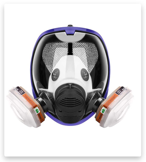 17in1 full face Cover Protective Respirator Rubber 360°