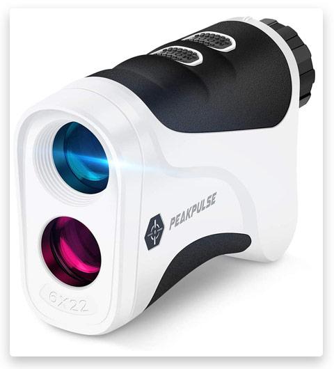 PEAK PULSE Golf Laser Rangefinder with Flag Acquisition