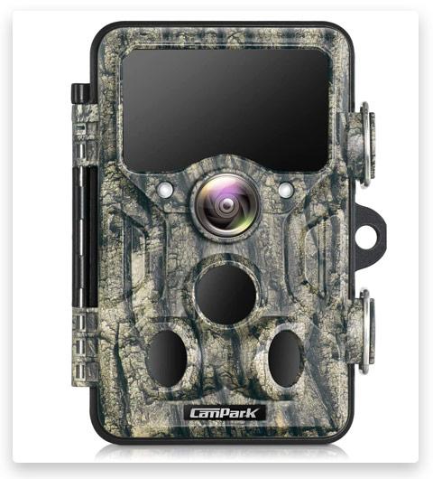 Campark WiFi Bluetooth Trail Camera 20MP 1296P Game Hunting Camera